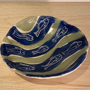 Pottery ceramic bowl handmade by an artist